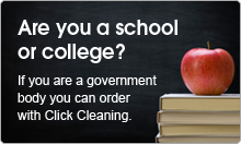 If you are a government body you can order with Click cleaning