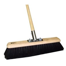 "18"" Soft Black Coco Platform Broom Set"