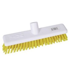 "Abbey 9"" Deck Scrub Head - Yellow"