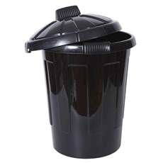 Black Dustbin with Lid
