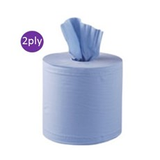 Blue Centrefeed Rolls 2ply 150m x 6