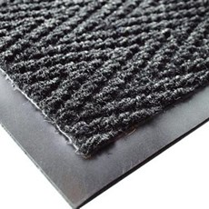 Charcoal Chevron Heavy Duty Matting