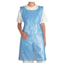 Disposable Plastic Aprons Blue