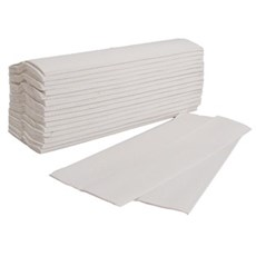 Flushable White C-fold Hand Towels