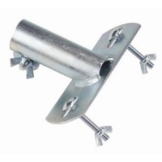 Galvanized Flat Top Broom Handle Socket