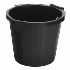 Large Black Bucket 15-litre