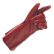 PVC Red Gauntlet Gloves