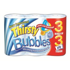 Thirsty Bubbles 3-ply Luxury Kitchen Roll (24)