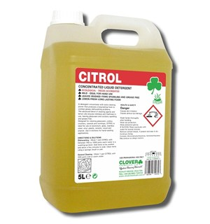 Citrol Lemon Washing Up Liquid 5litre (401)