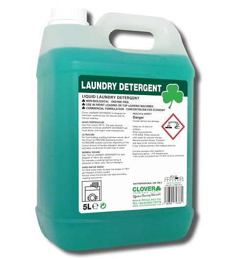 Clover Chemicals Industrial Laundry Detergent Click
