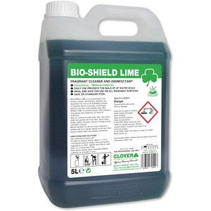 Bioshield LIME 5litre Fragrant Cleaner and Disinfectant 5litre (209)