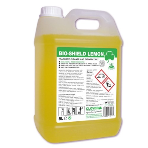 Bioshield LEMON Fragrant Cleaner and Disinfectant 5litre (205)