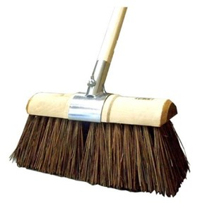 "Stiff Yard Broom 13"" Complete"