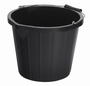 Large Black Bucket 15litre