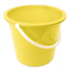 Plastic Bucket 10litre Yellow