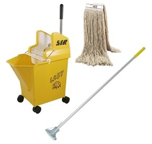 "SYR Yellow ""Ladybug"" Bucket and Kentucky Mop SET - 14-litre"