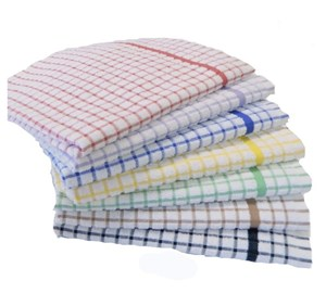 Checked Terry Tea Towels (pack of 10)