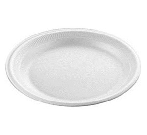 "Polystyrene 9"" Disposable Plates"