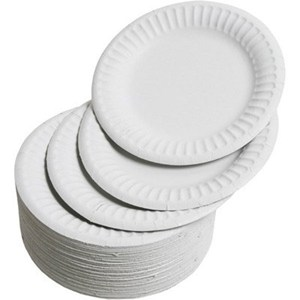 "6"" White Paper Plates (case of 1000)"