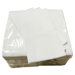 White Luxury 8-fold, 3-ply Napkins 40cm (pack of 1000)