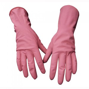 Household Rubber Gloves Pink (pair)