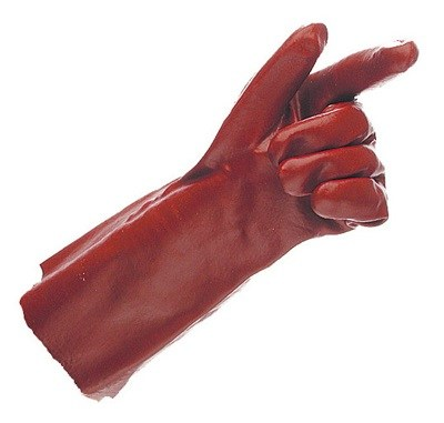 Red PVC Gauntlet Gloves