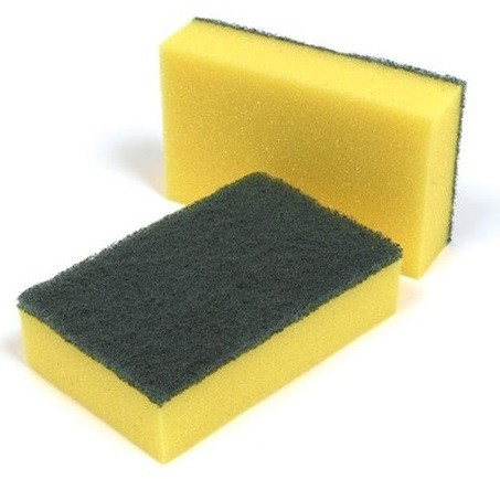 Nylon Sponge Scourers (pack of 10)