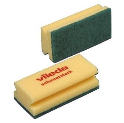Vileda Easy Grip Abrasive Sponge Scourer Click Cleaning Uk
