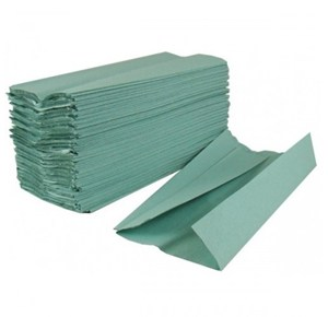 Green 1-ply C-fold Hand Towels (2800)