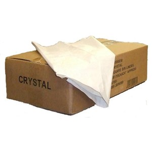 White Square Bin Liners 24x24 (Box of 1000)
