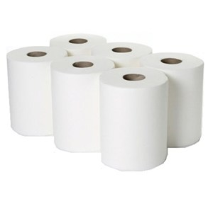 Airlaid White Towel Roll (6 rolls)