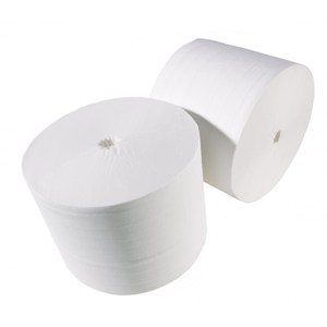 Coreless White Toilet Roll