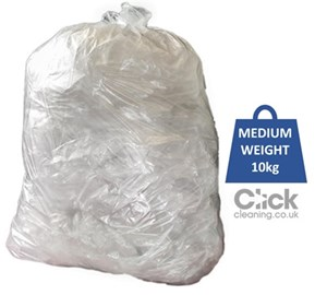 "Clear CHSA Medium Duty Refuse Sacks (X037) 10kg 29"" x 39"" (200)"