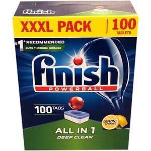 Finish All-in-one Deep Dishwasher Tablets (100/pack)