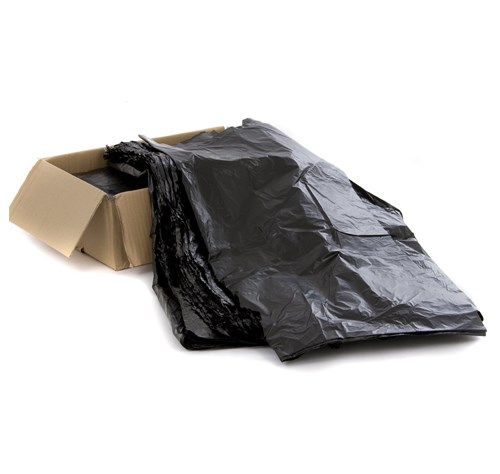 "Black Wheelie Bin Liners 46"" x 54"" (100 per case)"