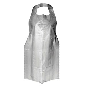 Disposable Plastic Aprons White