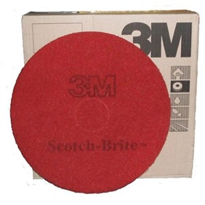 "3M Premium Red Floor Pads 15"" (5)"