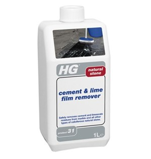 HG Natural Stone Cement and Lime Film Remover 1litre (product 31)