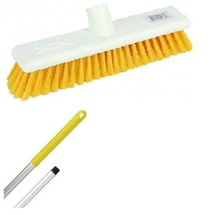 "Abbey 12"" Soft Broom - Yellow (complete with handle)"