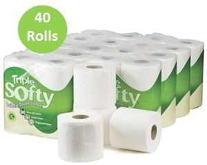 Triple Softy 3ply Toilet Rolls 40 rolls