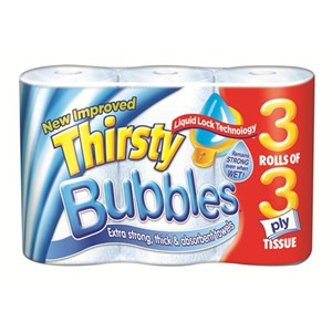Thirsty Bubbles Kitchen Roll (30 rolls)