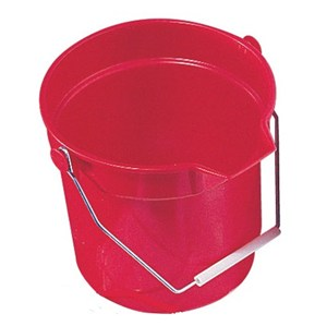 Red Round 10 litre Bucket