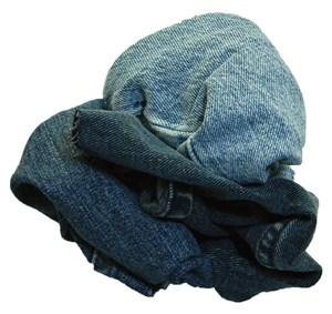 10kg Reclaimed Coloured Denim Rags Bag