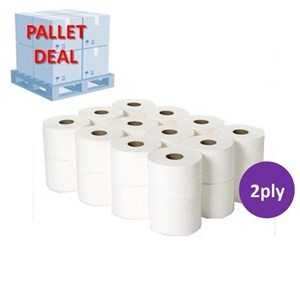 PALLET Mini Micro Jumbo Toilet Roll 100m x 24 (30 packs)