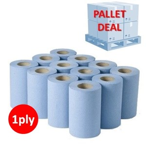 PALLET - Blue 1ply Mini-Centrefeed (60 cases)