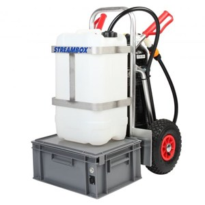 Streamline 25 litre Water Fed Pole Trolley System with Resin Filter (TR25.SLF-BC)