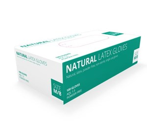 Natural Latex Gloves Powder free (Pack of 100)