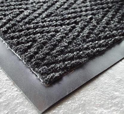 Charcoal Chevron Heavy Duty Matting Click Cleaning Uk