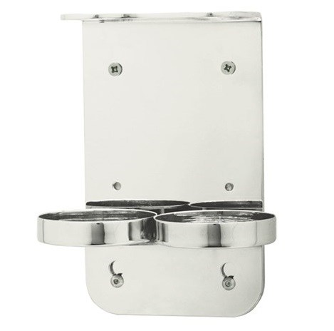 Wall Mounted Chrome Double Dispenser