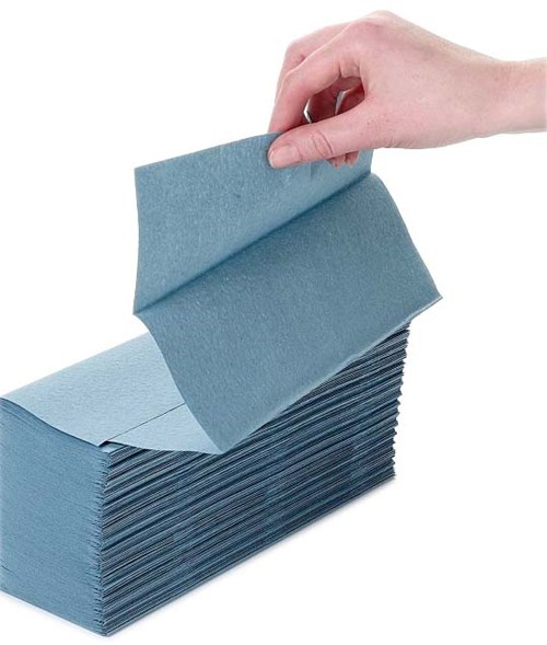 Blue Z-Fold Hand Towels (3000)